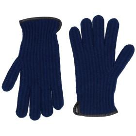 《9/20まで! 限定セール開催中》INVERNI メンズ 手袋 ブルー one size ウール 70% / カシミヤ 30%