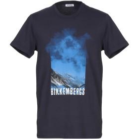 《期間限定セール開催中!》BIKKEMBERGS メンズ T シャツ ダークブルー S コットン 96% / ポリウレタン 4%
