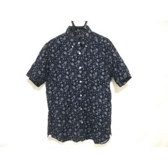【中古】 マッキントッシュ MACKINTOSH 半袖シャツ サイズ42 L メンズ ダークネイビー 白