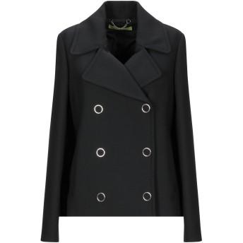 《セール開催中》VERSACE JEANS レディース コート ブラック 42 ポリエステル 64% / レーヨン 34% / ポリウレタン 2%