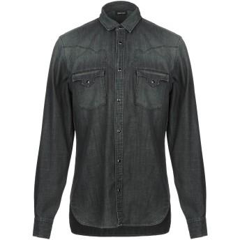 《セール開催中》JUST CAVALLI メンズ デニムシャツ 鉛色 48 コットン 100%