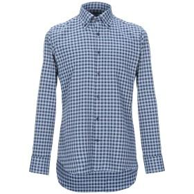 《セール開催中》ALESSANDRO BONI メンズ シャツ ダークブルー 39 コットン 100%