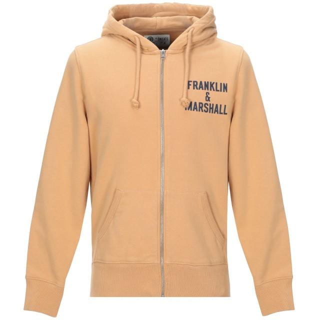 《期間限定セール開催中!》FRANKLIN & MARSHALL メンズ スウェットシャツ キャメル S コットン 100%