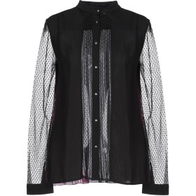 《セール開催中》JUST CAVALLI レディース シャツ ブラック 38 ポリエステル 100% / レーヨン