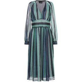 《期間限定 セール開催中》ATOS LOMBARDINI レディース 7分丈ワンピース・ドレス グリーン 40 ポリエステル 100%