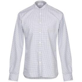 《セール開催中》AGLINI メンズ シャツ ダークブルー 41 コットン 100%