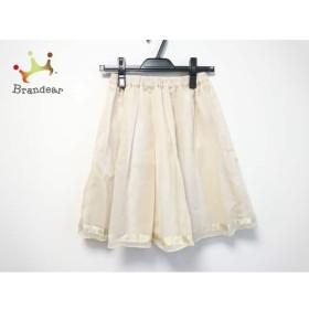 ジャスグリッティー JUSGLITTY スカート サイズ2 M レディース 美品 ベージュ   スペシャル特価 20190729
