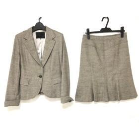 【中古】 アンタイトル UNTITLED スカートスーツ サイズ2 M レディース グレー ツイード