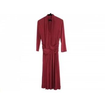 【中古】 エスカーダ ESCADA ドレス サイズ36 M レディース 新品同様 レッド ギャザー