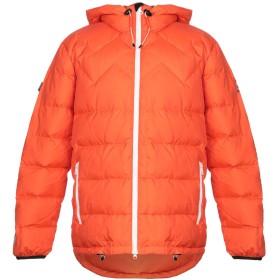 《期間限定セール開催中!》MOUNTAIN WORKS メンズ ダウンジャケット オレンジ S ナイロン 100%