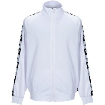 《セール開催中》KAPPA メンズ スウェットシャツ ホワイト XS ポリエステル 100%