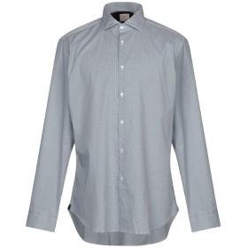 《期間限定セール開催中!》MICHAEL COAL メンズ シャツ ブルーグレー 43 コットン 100%
