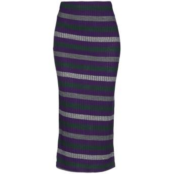《セール開催中》MICHELA MII レディース 7分丈スカート パープル S アクリル 88% / ポリエステル 12%