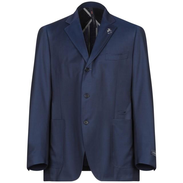 《期間限定セール開催中!》TOMBOLINI メンズ テーラードジャケット ブルー 56 ウール 100%
