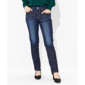 SOMETHING 【涼しいジーンズ】「INDIGO SUMMER COOL」テーパードストレートデニム レディース 濃加工色