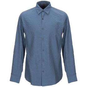 《セール開催中》MARKUP メンズ シャツ ブルーグレー L コットン 100%
