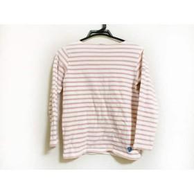 【中古】 オーシバル ORCIVAL 長袖Tシャツ レディース 白 ピンク ボーダー