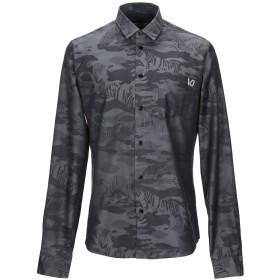 《期間限定セール開催中!》VERSACE JEANS メンズ シャツ 鉛色 48 コットン 100%