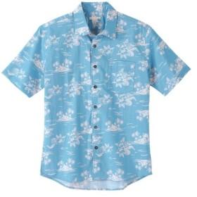 総柄プリント半袖アロハシャツ カジュアルシャツ