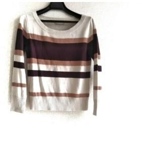 【中古】 スナイデル 長袖セーター サイズF レディース 美品 アイボリー ベージュ ダークブラウン