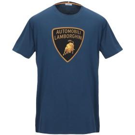 《期間限定セール開催中!》AUTOMOBILI LAMBORGHINI メンズ T シャツ ブルーグレー M コットン 100%