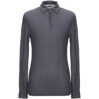 《期間限定セール開催中!》ALPHA STUDIO メンズ ポロシャツ 鉛色 48 コットン 100%