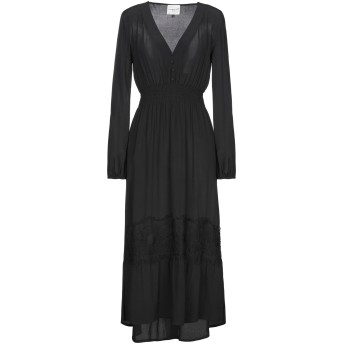 《セール開催中》MICHELA MII レディース 7分丈ワンピース・ドレス ブラック S レーヨン 100%