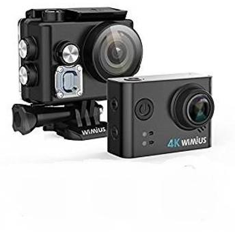 アクションカメラ ウェアラブルカメラ 水泳 自転車 バイク カメラ ドライブレコーダー利用 防水ケース装着充電可 4k スポーツカメラ WI