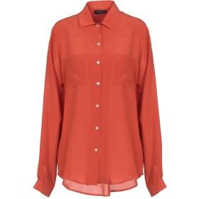 《セール開催中》ANTONELLI レディース シャツ 赤茶色 40 シルク 100%