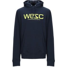 《送料無料》WESC メンズ スウェットシャツ ダークブルー XS コットン 100%