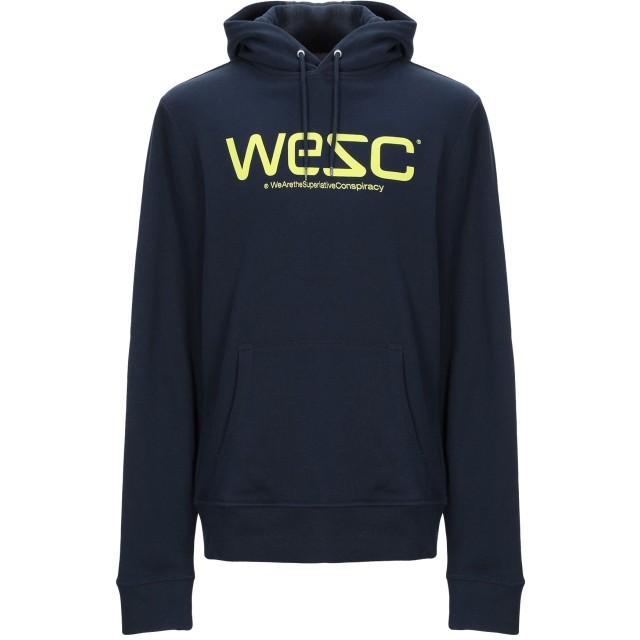 《期間限定 セール開催中》WESC メンズ スウェットシャツ ダークブルー XS コットン 100%