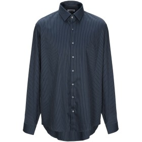 《セール開催中》CALVIN KLEIN メンズ シャツ ダークブルー 45 コットン 96% / ポリウレタン 4%