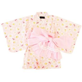 ベビーザらス限定 Barbie バービー 浴衣ワンピース(ピンク×80cm)【クリアランス】