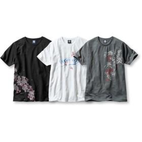 吸汗速乾半袖プリントTシャツ3枚組(和柄) Tシャツ・カットソー