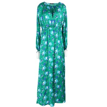 《セール開催中》DEPARTMENT 5 レディース ロングワンピース&ドレス エメラルドグリーン XS レーヨン 100% ABITO GREEN
