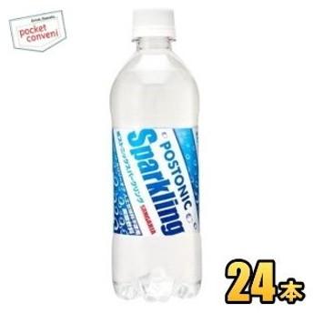 サンガリア ポストニックスパークリング 500mlペットボトル 24本入 (スポーツドリンク 炭酸飲料 熱中症対策)
