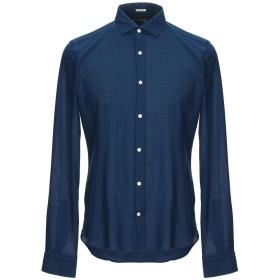 《期間限定 セール開催中》OGNUNOLASUA by CAMICETTASNOB メンズ シャツ ブルー 39 コットン 100%