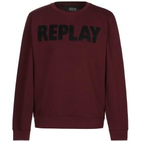 《期間限定 セール開催中》REPLAY メンズ スウェットシャツ ボルドー XL コットン 75% / ポリエステル 25%