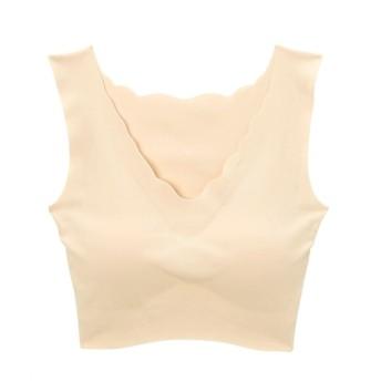 グンゼ KIREIRABO 完全無縫製。綿混 ハーフトップ (ノンワイヤーブラジャー),Bras