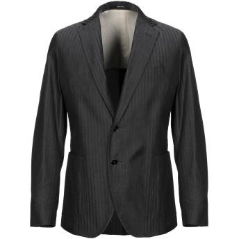 《セール開催中》PAOLONI メンズ テーラードジャケット ブラック 50 コットン 100%