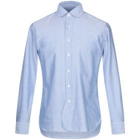 《期間限定セール開催中!》DOPPIAA メンズ シャツ ブルー 39 コットン 100%