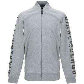 《期間限定セール開催中!》BIKKEMBERGS メンズ スウェットシャツ グレー S コットン 96% / ポリウレタン 4%