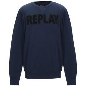 《期間限定 セール開催中》REPLAY メンズ スウェットシャツ ダークブルー XXL コットン 75% / ポリエステル 25%