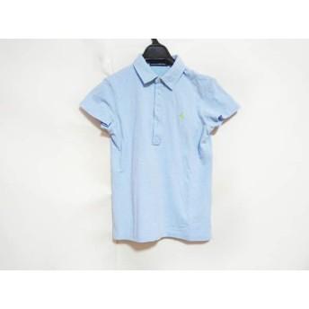 【中古】 ラルフローレンゴルフ 半袖ポロシャツ レディース ライトブルー ライトグリーン