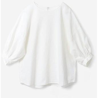 麻混トップス〈白〉 avecmoi フェリシモ FELISSIMO【送料無料】