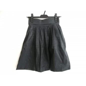 【中古】 フレイアイディー FRAY I.D スカート サイズ9 M レディース 黒 グリーン ドット柄