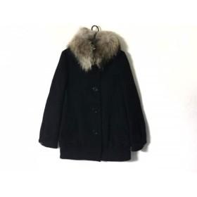 【中古】 マウジー moussy コート サイズ2 M レディース 黒 冬物