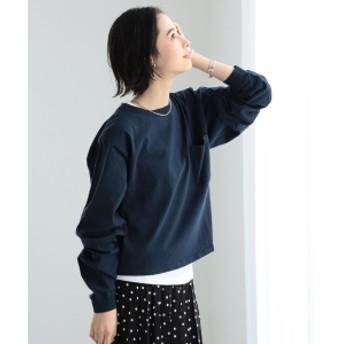 【一部予約】Goodwear / カスタム ビッグ ロングスリーブ Tシャツ レディース カットソー NAVY M