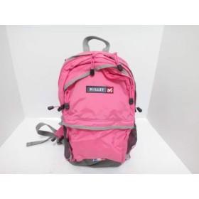 【中古】 ミレー MILLET リュックサック 美品 ピンク グレー ライトグレー ナイロン