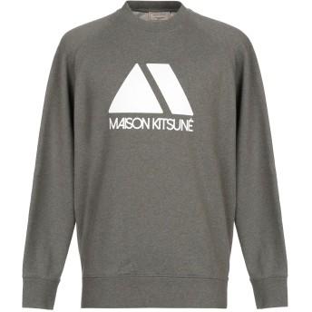 《期間限定セール開催中!》MAISON KITSUN メンズ スウェットシャツ ミリタリーグリーン XS コットン 100%